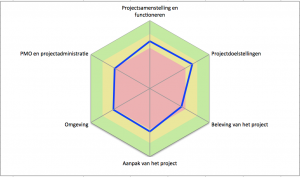 Project Review resultaat voorbeeld - spider-matrix