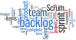 Agile Scrum tagcloud banner